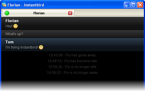 Instantbird screenshot